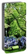 Wisteria On Lawn Portable Battery Charger