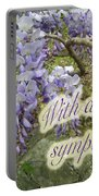 Wisteria Sympathy Card Portable Battery Charger