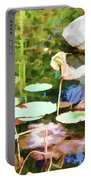 Withered Lotus In The Pond 2 Portable Battery Charger