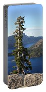 Wizard Island With Rock Fence At Crater Lake Portable Battery Charger