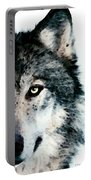 Wolf Art - Timber Portable Battery Charger by Sharon Cummings