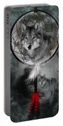 Wolf Dreamcatcher Portable Battery Charger