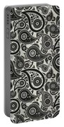 Wolf Gray Paisley Design Portable Battery Charger