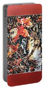 Wolf Hiding In Branches Portable Battery Charger