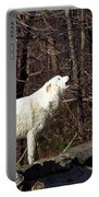 Wolf Howling In Forest Portable Battery Charger