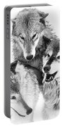 Wolf Triplets Portable Battery Charger