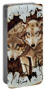 Wolves In Hiding Portable Battery Charger