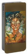 Woman And Fishes Portable Battery Charger