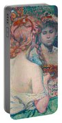 Woman At The Mirror  Portable Battery Charger
