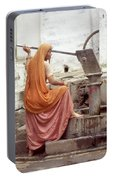 Woman At The Pump Portable Battery Charger