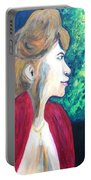 Woman At The Window Portable Battery Charger
