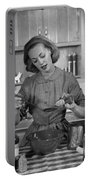 Woman Baking In Kitchen, C.1960s Portable Battery Charger