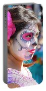 Woman Beautiful Day Of The Dead  Portable Battery Charger