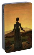Woman Before The Rising Sun Woman Before The Setting Sun1818-20  By Caspar David Friedrich 1774 Portable Battery Charger