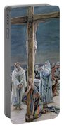 Woman Behold Thy Son Portable Battery Charger by Tissot