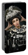Woman Dressed In Price Tag Portable Battery Charger