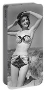 Woman In Bikini, C.1950s Portable Battery Charger