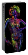 Woman In Leaf Headdress In Body Paint Portable Battery Charger