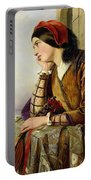 Woman In Love Portable Battery Charger by Henry Nelson O Neil