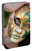Woman In Mask Portable Battery Charger