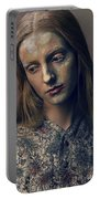 Woman In Painterly Look Portable Battery Charger