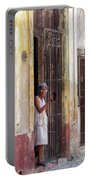 Woman In The Door Portable Battery Charger