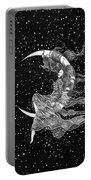 Woman In The Moon Portable Battery Charger