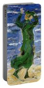 Woman In The Wind By The Sea 1907 Portable Battery Charger
