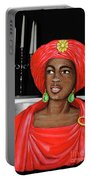 Woman Of The Candelabra Portable Battery Charger