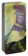 Woman Of Wheat Portable Battery Charger