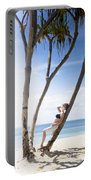 Woman On Holiday Portable Battery Charger