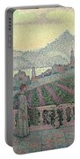 Woman On The Terrace Portable Battery Charger