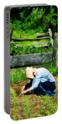 Woman Planting Garden Portable Battery Charger