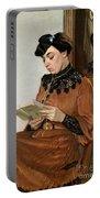 Woman Reading Portable Battery Charger by Felix Edouard Vallotton