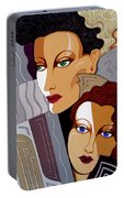 Woman Times Three Portable Battery Charger by Tara Hutton