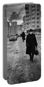 Woman Walking On Path In Russia Portable Battery Charger