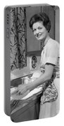 Woman Washing Dishes, C.1960s Portable Battery Charger