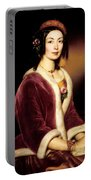 Woman Wearing A Velvet Pelisse  Portable Battery Charger
