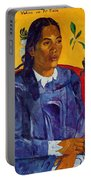 Woman With A Flower 1891 Portable Battery Charger