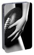 Woman With A Football Portable Battery Charger