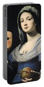 Woman With A Mask Portable Battery Charger