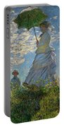 Woman With A Parasol, Madame Monet And Her Son, Claude Monet Digitally Enhanced Portable Battery Charger