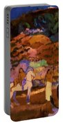 Women And White Horse 1903 Portable Battery Charger