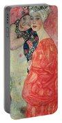 Women Friends Portable Battery Charger by Gustav Klimt