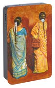 Women In Sarees Portable Battery Charger