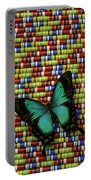 Wonderful Green Butterfly Portable Battery Charger