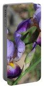 Wonderful Purple Irises Portable Battery Charger