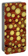 Wood And Gold Portable Battery Charger