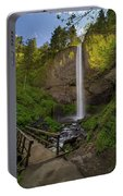 Wood Bridge At Latourell Falls Portable Battery Charger