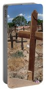 Wood Crosses In Taos Cemetery Portable Battery Charger